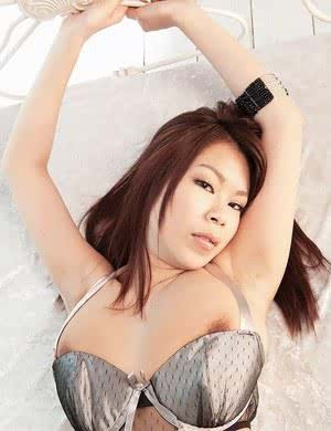 Beautiful Asian Ria Sakuragi shows her tiny ass and huge tits in sexy lingerie