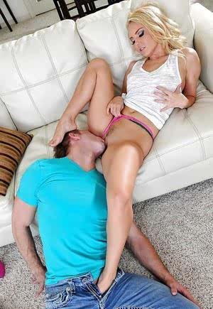 First class footjob done by an astounding cowgirl Aaliyah Love