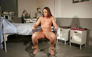 Kinky gal gets involved into tough BDSM action with two gyno doctors