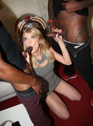 Cute blonde girl Bree Haze gets nailed in ass and twat by 2 big black cocks