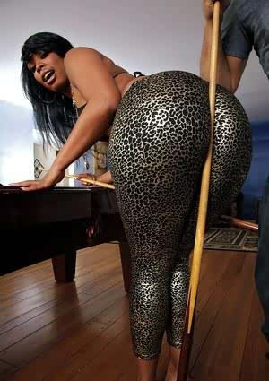 Sexy ebony babe Vanessa Monet takes cum on her big round booty