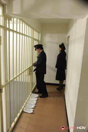 Japanese women prisoners bare ass for invasive anal cavity search