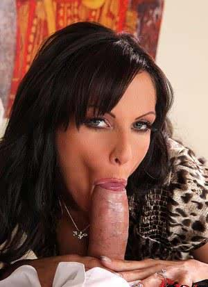 Reality porn MILF Sheila Grant sucking big cock  getting cum on tongue