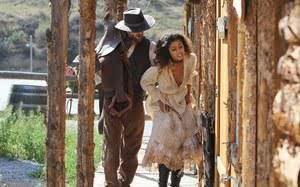 Sexy ebony slave girl tied up and force fucked by her cowboy captor