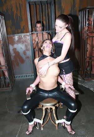 Cum slut Cathy Heaven is tied up before before being ravaged by cock and jizz
